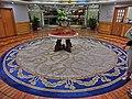 HK Causeway Bay 警官俱樂部 Police Officers' Club round carpet n lobby hall Mar-2013.JPG