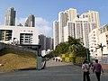 HK TKL 調景嶺 Tiu Keng Leng 彩明街 Choi Ming Street Choi Ming Court n public library facades November 2019 SS2.jpg