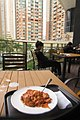 HK food lunch Chicken meat Tomato 意大利粉 Spaghetti disk March 2018 IX1 05.jpg