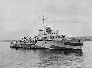 HMS Bramham (L51) - Image: HMS Bramham 1942 FL 2844