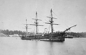 Capture of Mazatlán - HMS ''Charybdis'' hosted a banquet for the victorious Mexican officers after the battle