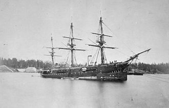 Origins of the Royal Canadian Navy - Figure 1: HMS Charybdis commissioned by Marine and Fisheries in 1881, was Prime Minister John A. Macdonald's attempt at the formation of a Canadian Naval Service.