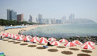 Beach in Busan, South Korea