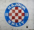 Hajduk logo on wall.JPG
