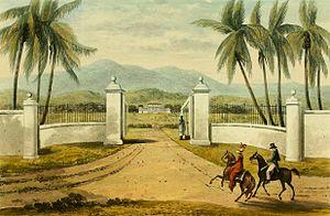 Saint James Parish, Jamaica - Rose Hall Plantation 1821
