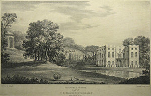 Halswell House - Halswell House painted by Agostino Aglio circa 1830