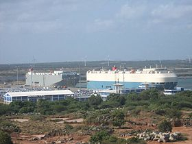 Hambantota Port Docks two ships.jpg