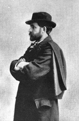 English: Photograph of American writer Hamlin ...