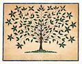 Hannah Cohoon, Tree of Life or Blazaing Tree, 1845.jpg