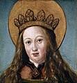 Hans Holbein d. J. - Kopf einer weiblichen Heiligen, um 1515.jpg