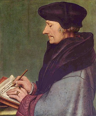 Anderlecht - Erasmus painted by Hans Holbein the Younger (1523)