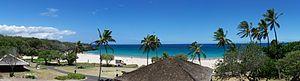 Hapuna Beach State Recreation Area - Panorama of Hapuna Beach, island of Hawaii.