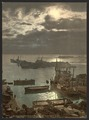 Harbor by moonlight, II, Algiers, Algeria-LCCN2001697804.tif
