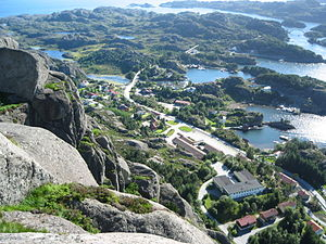 Solund - View of Hardbakke