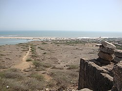 Sea view from Harshad Temple on Koyala hill, at Saurashtra