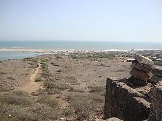 Saurashtra (region) - Sea view from Harshad Temple on Koyala hill, at Saurashtra