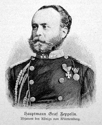 Ferdinand von Zeppelin - In uniform as adjutant to Charles I of Württemberg, 1865