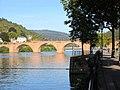 Heidelberg the River Neckar the Old Brige with a view to Ziegelhausen IMG 0073.jpg