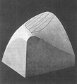 Heike Kamerlingh Onnes - 29 - Plaster model of a Ψ surface of a mixture of two substances.png
