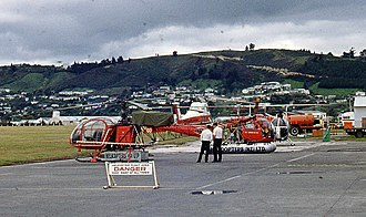 Helicopters (NZ) - Helicopters New Zealand base, Nelson, 1969