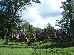 Valga County - Ruins of Helme Order Castle, built in the 14th century