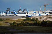 Helsinki-Vantaa airport Finnair planes