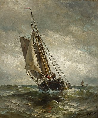 Harry Chase (artist) - Image: Henry Chase Running for an Anchorage 83.2 Indianapolis Museum of Art