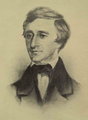 Henry David Thoreau scholar and public speaker by Samuel Worcester Rowse 1854.png