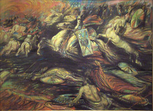 Henry de Groux - Ride of the Valkyries (ca. 1890)   Royal Museums of Fine Arts, Brussels, Belgium