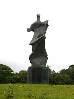 <i>Standing Figure: Knife Edge</i> sculpture series by Henry Moore