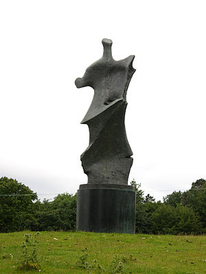 Standing Figure: Knife Edge - Large Standing Figure: Knife Edge (1976), in Yorkshire Sculpture Park in 2007
