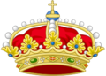 Heraldic Crown the Princess of Asturias, Crown's arches differenced as consort.png