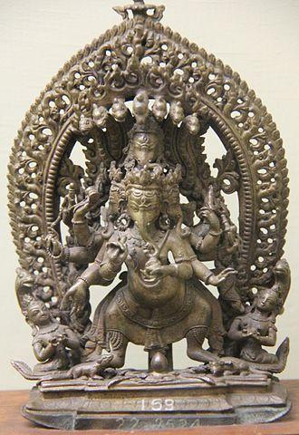 Heramba - Heramba Ganapati idol on display at The Prince of Wales Museum, Mumbai. Idol dates back to 19 century CE; originating from Nepal.