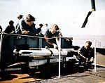 High-Velocity Aircraft Rockets (HVAR) on a US Navy aircraft carrier c1945.jpg