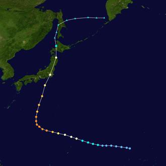 Typhoon Higos (2002) - Image: Higos 2002 track