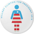 Hillary Clinton for President 2016 button (designed by Courtney Garvin).png