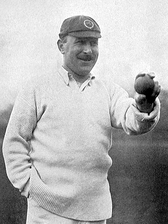 George Hirst - Hirst showing his ball grip in 1906
