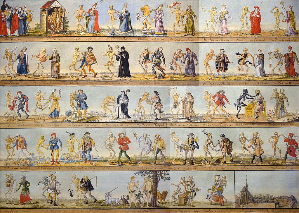 Aquarellkopie des Basler Totentanzes von 1806 (Johann Rudolf Feyerabend) ()