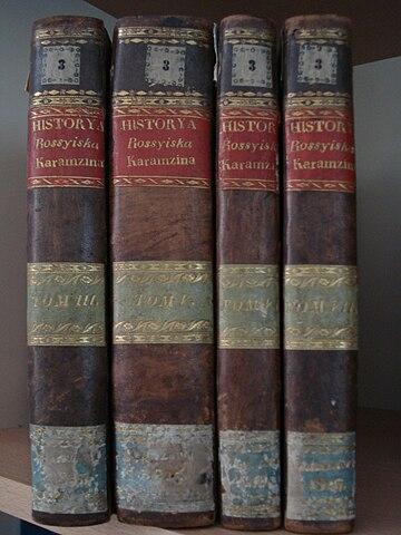 Первое издание «Истории» Карамзина на польском языке