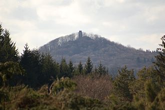 Hohe Acht - The prominent peak of the Hohe Acht seen from the summit plateau of the Raßberg