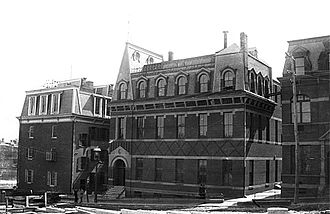 Johns Hopkins University - Hopkins Hall circa 1885, on the original downtown Baltimore campus