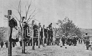 Austria-Hungarian soldiers execution Serbian woman
