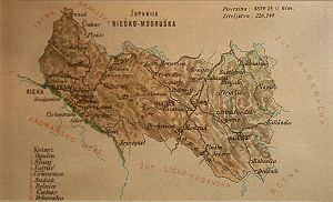 Modruš-Rijeka County - Old map of Modruš-Rijeka County