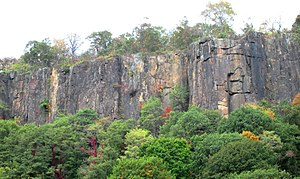 The Palisades (Hudson River) - The cliffs of the Palisades as seen from the Ross Dock Picnic Area in Palisades Interstate Park.