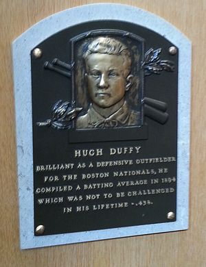 Hugh Duffy - Duffy's plaque at the Baseball Hall of Fame