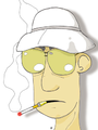Hunter S Thompson caricatura.png