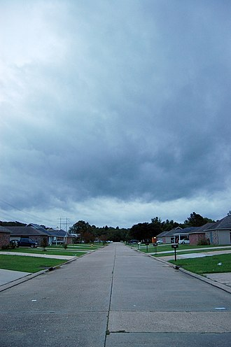 Zachary, Louisiana - Hurricane Gustav over Zachary, 2008