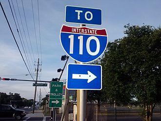 Interstate 110 (Florida) - Interstate 110 shield near Downtown Pensacola