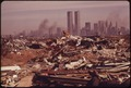 ILLEGAL DUMPING AREA OFF THE NEW JERSEY TURNPIKE, FACING MANHATTAN ACROSS THE HUDSON RIVER. NEARBY, TO THE SOUTH, IS... - NARA - 549762.tif