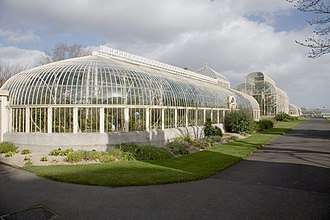 Glasnevin - The Curvilinear Range of glasshouses at the Irish National Botanic Gardens